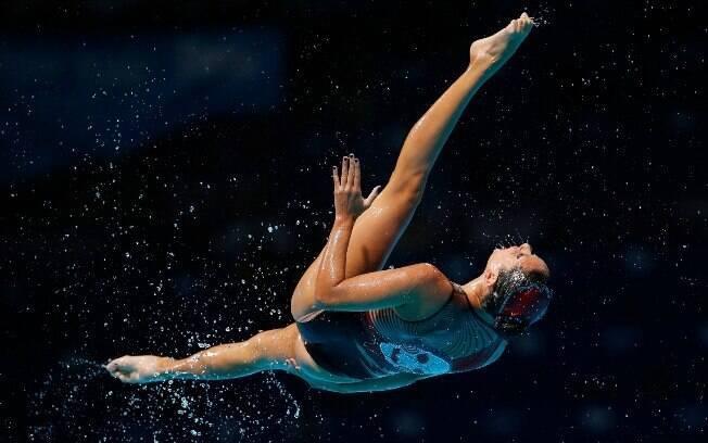 Mais uma final do Mundial, agora com a equipe  do México do nado sincronizado