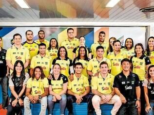 Completa. Equipe brasileira formada por 18 judocas conta com cinco atletas da Belo Dente-Minas