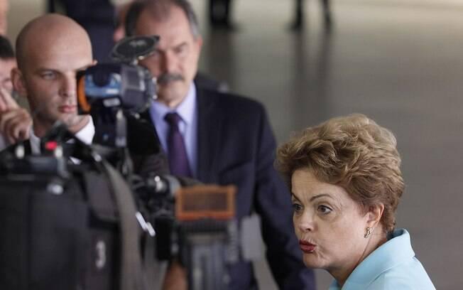 Dilma Rousseff durante visita de Tabaré Vázquez