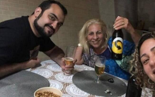 Luis Gustavo Botto Maia em encontro com mulher de Queiroz e a mãe do miliciano Adriano da Nóbrega