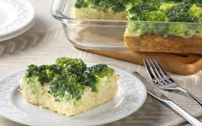 torta de brócolis e queijo