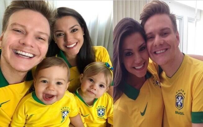 Michel Teló e Thaís Fersoza estão empolgados com a Copa do Mundo