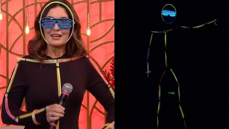 Fátima Bernardes usa roupa neon no