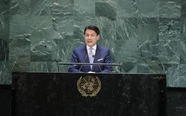 Giuseppe Conte discursa na Assembleia geral da ONU e fala sobre Constituição.
