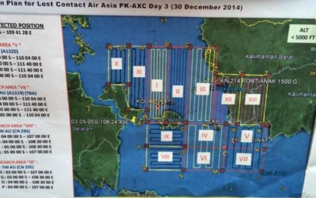 Buscas pela aeronave se concentravam em 13 áreas diferentes no mar e em terra.. Foto: BBC Brasil