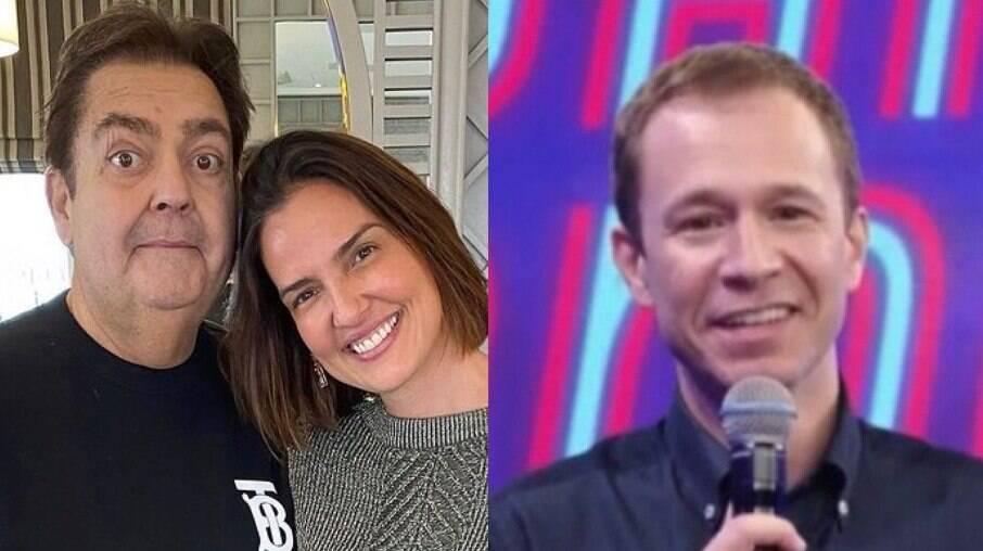 Esposa de Faustão agradece Tiago Leifert por lembrar de apresentador