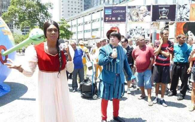 Helio de La Peña e Marcelo Madureira gravam cenas para a nova temporada de