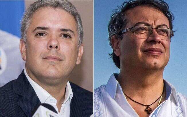 Dois candidatos que estão na disputa representam os extremos na Colômbia: Ivan Duque e Gustavo Petro