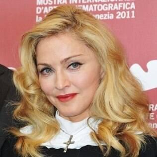 Madonna no evento em que recebeu as odiadas hortênsias