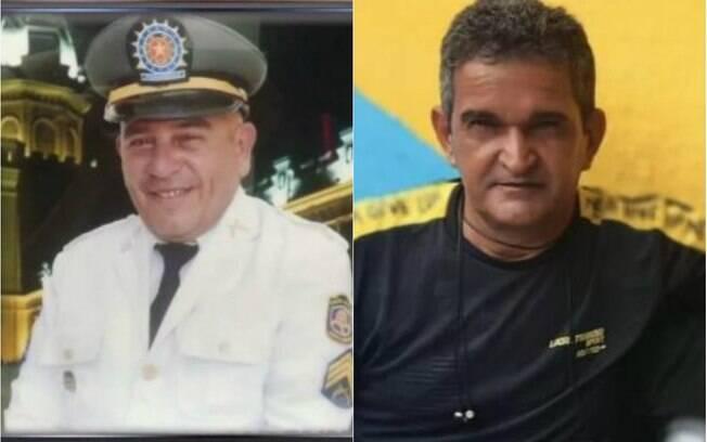 duas imagens de dois policiais em vida