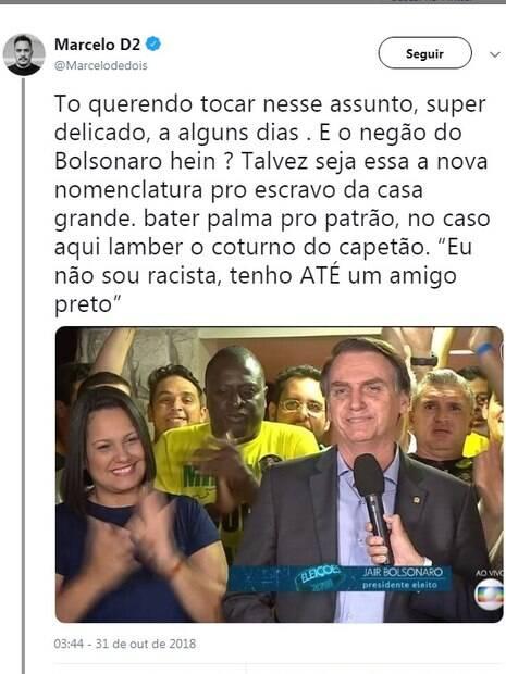 Marcelo D2 foi acusado de racista após declarações em seu Twitter