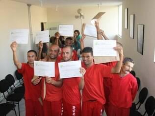 Durante o curso, os presos foram preparados para a vida fora das grades