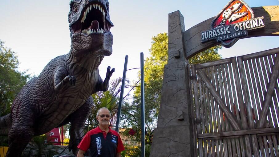 Milton Maia, diretor pedagógico da Unidade Paineiras, no Jurassic Oficina Experience.