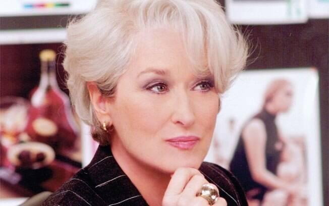 Em 2006, Meryl Streep ficou grisalha para protagonizar o filme 'O Diabo Veste Prada'