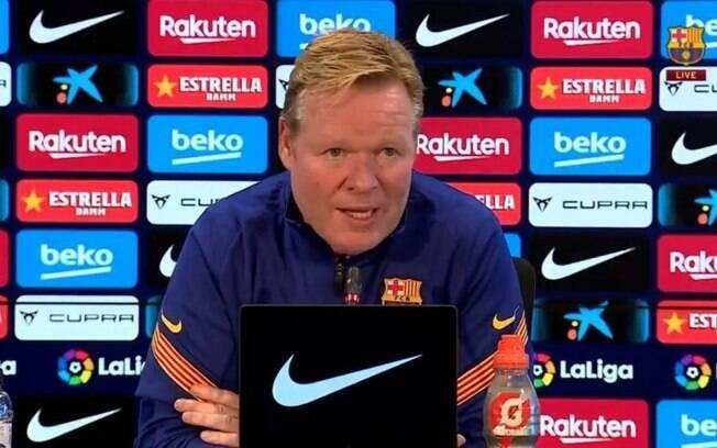 Ronald Koeman reprovou declaração do presidente interino do Barcelona sobre Messi