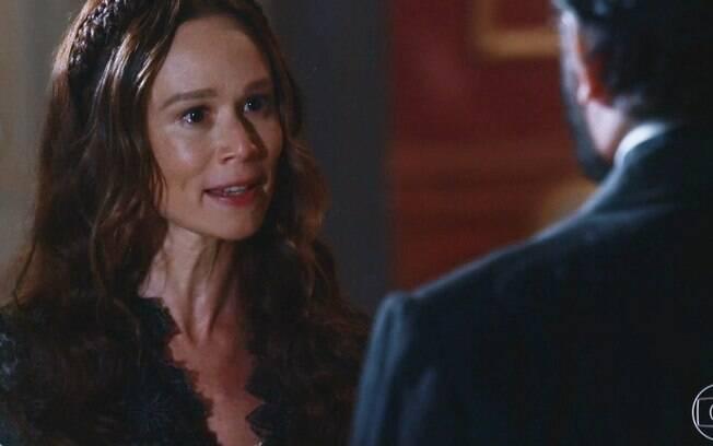 Nos Tempos do Imperador: Luísa, grávida, toma chocante ameaça de Pedro em quebra-barraco