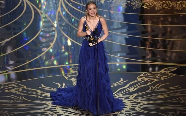Brie Larson levou o Oscar de melhor atriz por