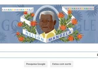 Google faz homenagem a Nelson Mandela em sua página de