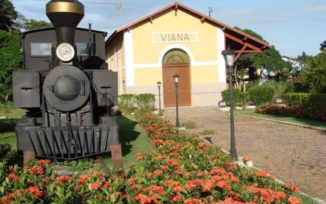 O Trem das Montanhas parte de Viana, a 22 km de Vitória