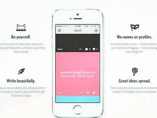 Polêmico. Lançado em maio no país, o Secret é uma rede social que se baseia no anonimato, mas muitos usuários têm sido vítimas de abusos