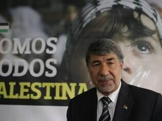 Mundo - Belo Horizonte - MG Visita e coletiva do embaixador da Palestina a Belo Horizonte   FOTO: FERNANDA CARVALHO / O TEMPO - 30.07.2014