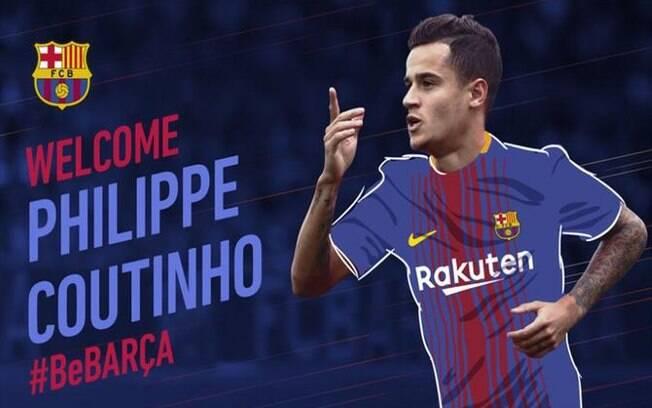 Barcelona anunciou a contratação de Philippe Coutinho
