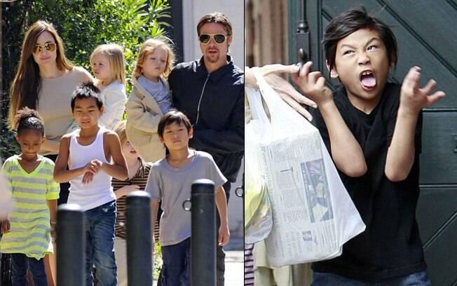 Angelina Jolie está com medo de perder Pax para a mãe biológica