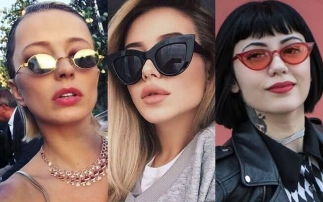 Os óculos de sol sempre foram acessórios que chamaram atenção, e agora os modelos mini, maxi e 'diferentões' são sucesso
