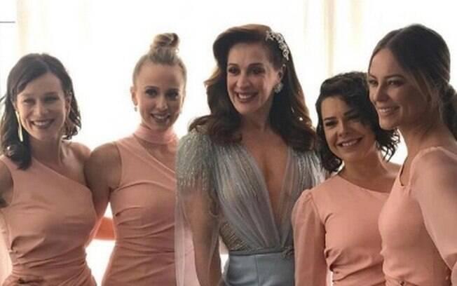 Claudia Raia e suas filhas na ficção