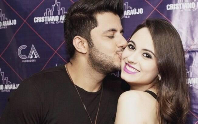 Cristiano Araújo e a namorada Allana, que morreram no acidente. Foto: Reprodução/Instagram