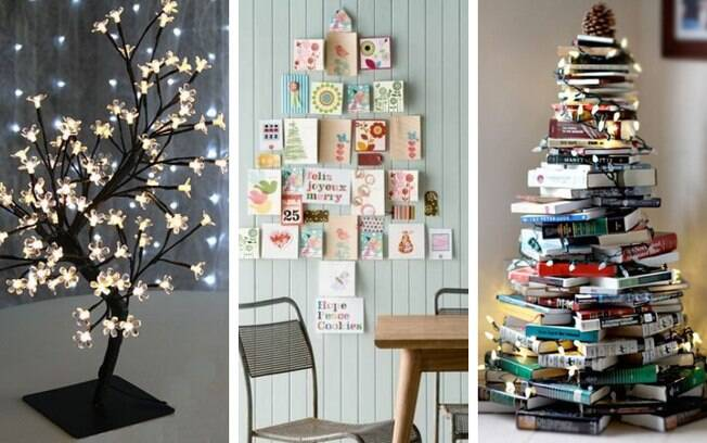O Delas pesquisou no Pinterest e, durante a busca, selecionou cinco ideias criativas de decoração de árvores de Natal