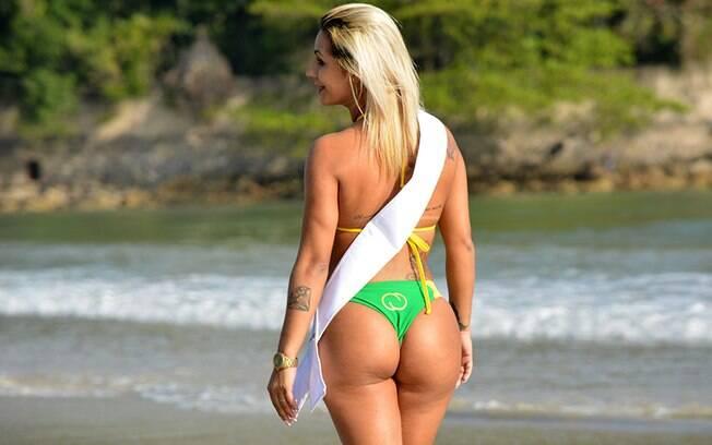 Débora Dunhill é a candidata de Tocantins do 'Miss Bumbum Brasil' de 2015