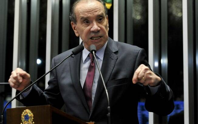 Em pronunciamento, o senador Aloysio Nunes Ferreira (PSDB-SP). Foto: Jane de Araújo/Agência Senado - 11.05.2016