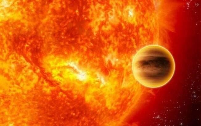 Concepção artística do planeta orbitando a estrela HD 203949: existência