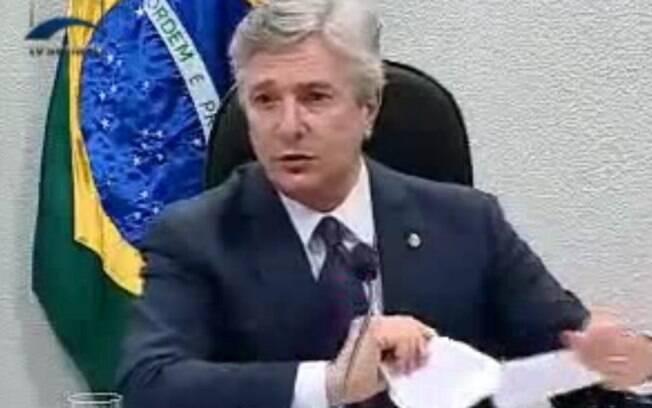 O ex-presidente e senador pelo PTB de Alagoas, Fernando Collor, é acusado de ter recebido dinheiro de Yousseff. Foto: Reprodução