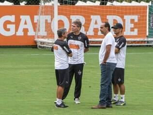 Último treino antes de final do Mineiro foi acompanhado de perto pelo presidente Alexandre Kalil