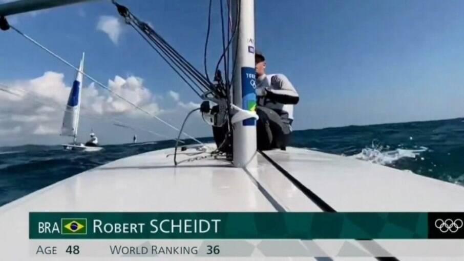 Robert Scheidt em ação na Tóquio 2020