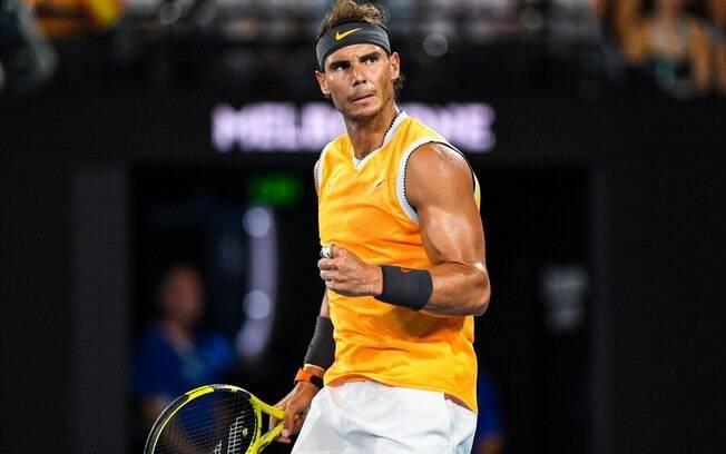 O espanhol Rafael Nadal derrotou o grego Stefanos Tsitsipas e jogará sua quinta final do Aberto da Austrália