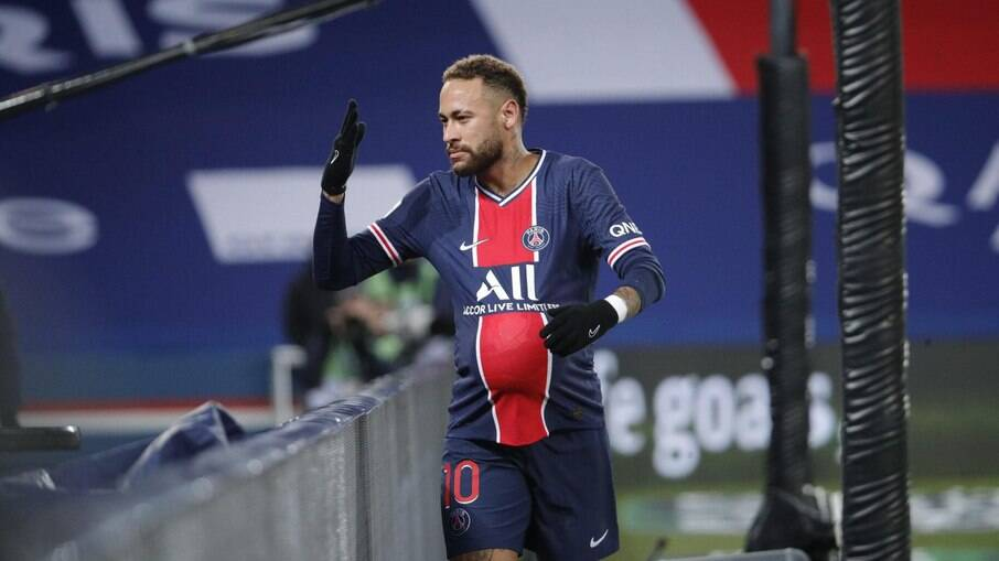 Neymar marcou na vitória do PSG sobre o Montpellier