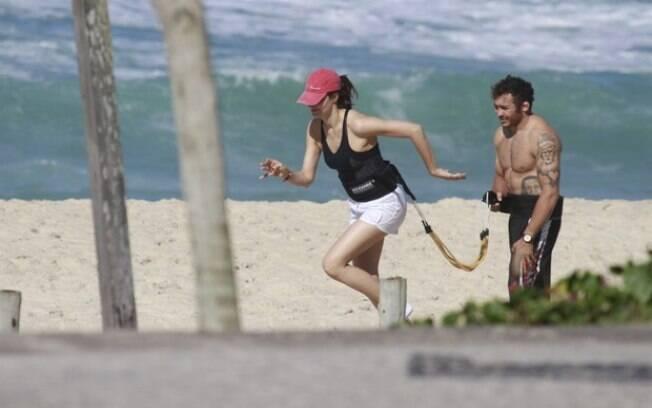 Fernanda Tavares também é adepta do treino externo