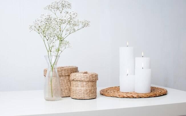 As cestas podem ser encontradas facilmente pelas pessoas e podem ser usadas no centro da mesa ou em outros locais