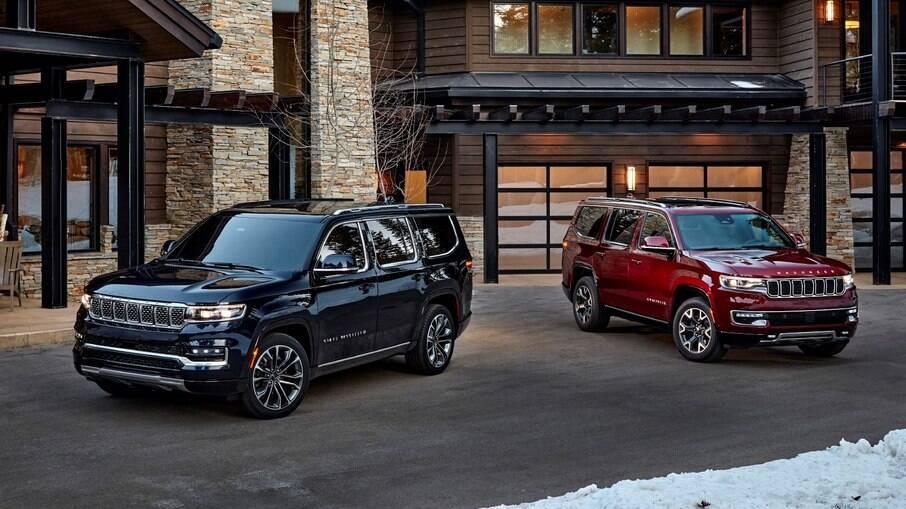 Jeep Grand Wagoneer e Wagoneer são referência de estilo para o SUV de sete lugares que a marca lançará no Brasil