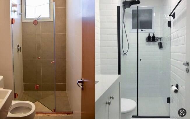 Existem algumas opções de box para banheiros pequenos que podem ajudar a expandir o ambiente