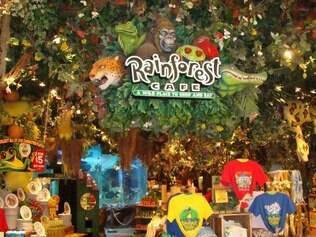 Rain Forest Cafe integra o conceito