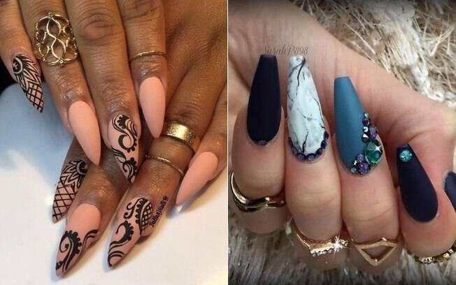As unhas esculpidas em formatos variados estão fazendo sucesso entre as dicas de beleza das mulheres na Argentina