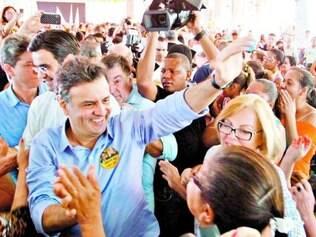 Interior de São Paulo. Aécio Neves, em campanha, se encontrou com lideranças do PSDB e populares