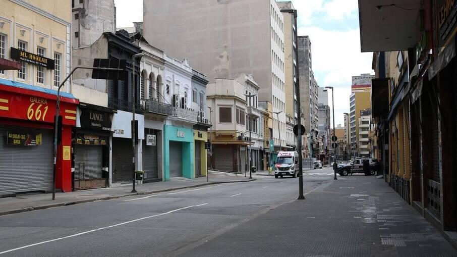 Comércio fechado em São Paulo