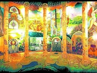 """Arte. Templo """"Hall of the Earth"""" na comunidade de Damanhur foi todo escavado à mão e é considerado a oitava maravilha do mundo"""
