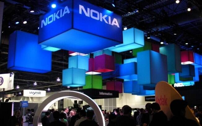 Estande da Nokia: forte aposta no Windows Phone