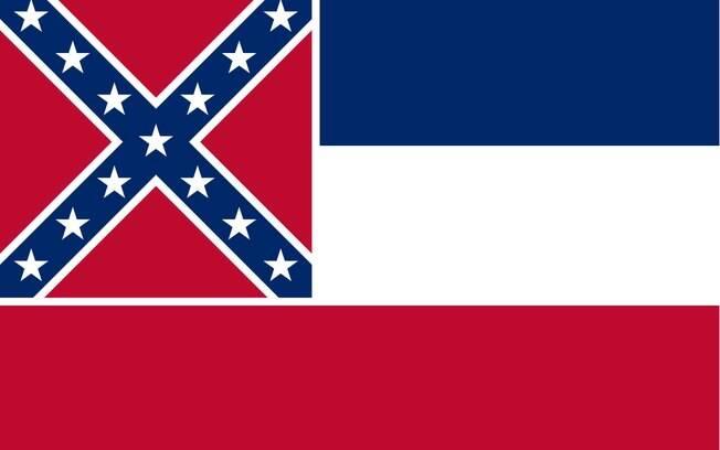Eleitores do Mississippi nova bandeira do estado sem o símbolo confederado